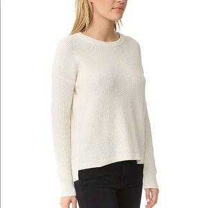 Madewell Cream Textured Cowl Neck Sweater